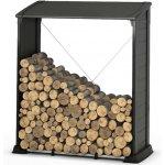 dřevník z kovu